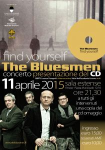 Locandina presentazione cd The Bluemsen Find Yourself