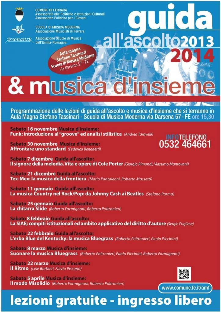 Guida all'Ascolto e musica d'Insieme 2013/2014