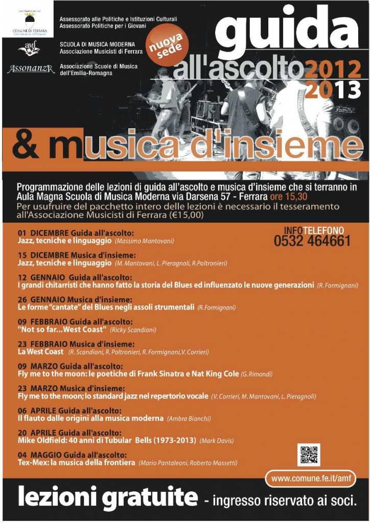 Guida all'Ascolto e musica d'Insieme 2012/2013