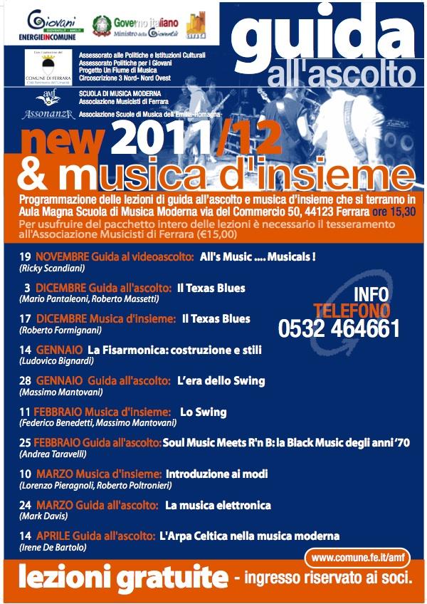 Guida all'Ascolto e musica d'Insieme 2011/2012