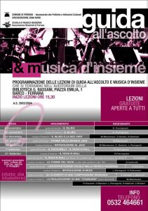 Guida all'ascolto e Musica d'Insieme 2003