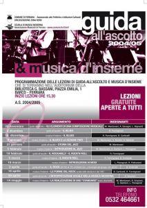 Guida all'ascolto e Musica d'Insieme 2004