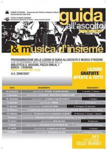Guida all'ascolto e Musica d'Insieme 2006