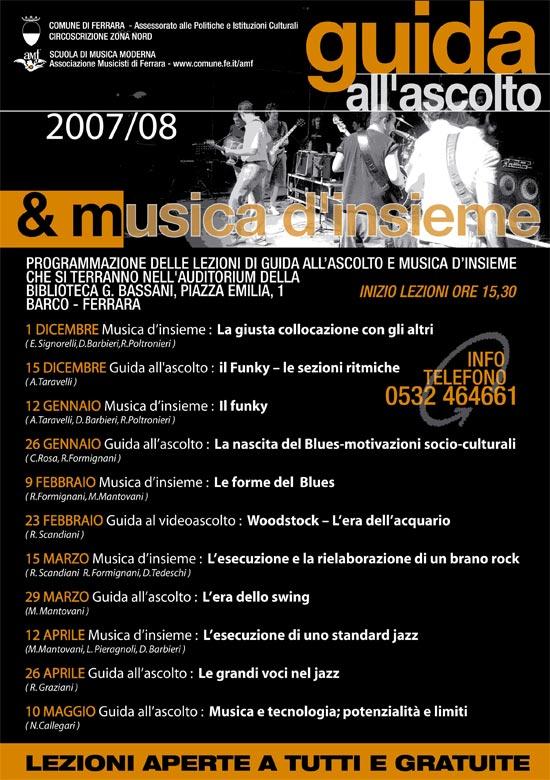 Guida all'Ascolto e musica d'Insieme 2007/2008