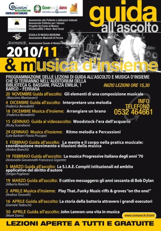 Guida all'Ascolto e musica d'Insieme 2010/2011