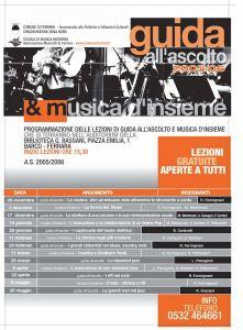 Guida all'Ascolto e musica d'Insieme 2005/2006