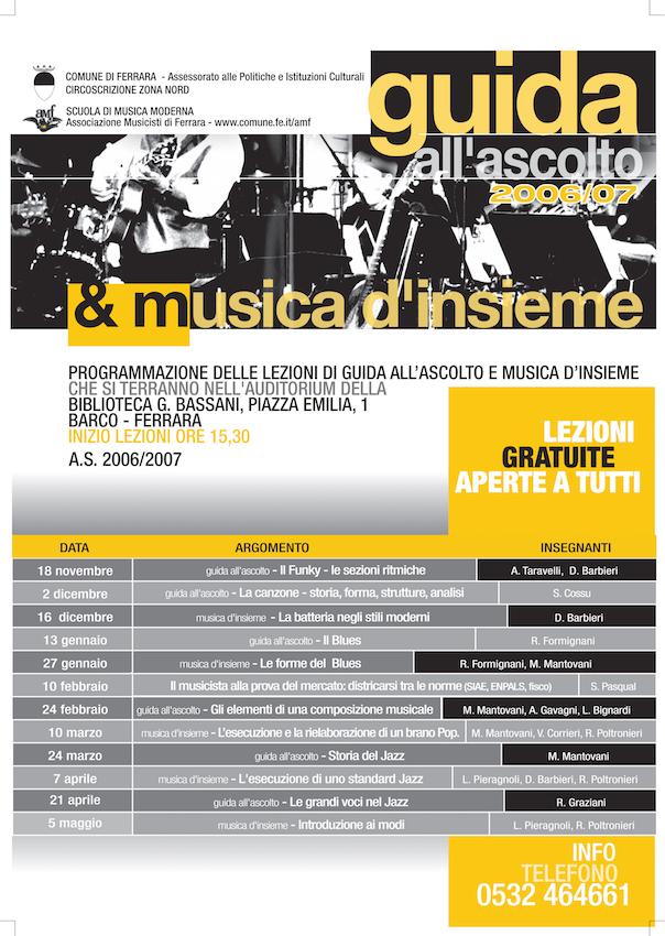 Guida all'Ascolto e musica d'Insieme 2006/2007