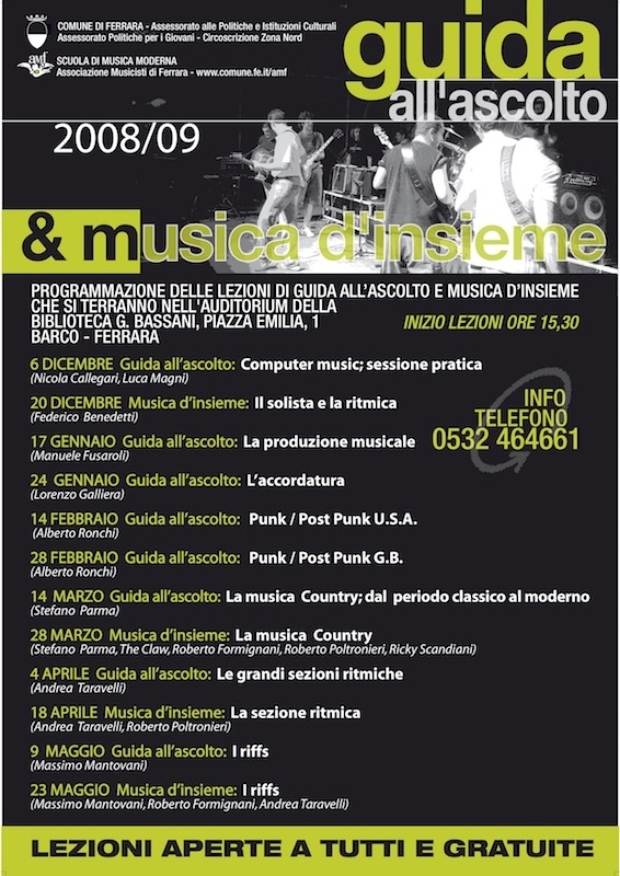Guida all'Ascolto e musica d'Insieme 2008/2009