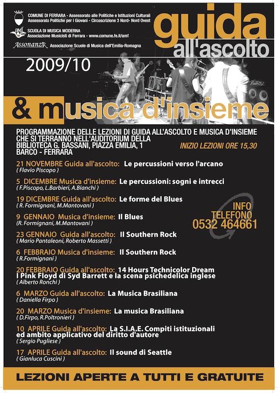 Guida all'Ascolto e musica d'Insieme 2009/2010