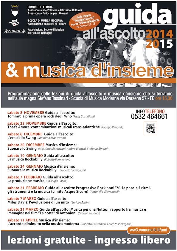 Guida all'Ascolto e musica d'Insieme 2014/2015