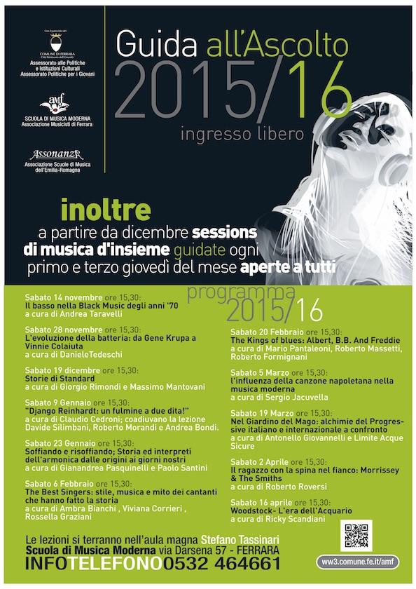 Guida all'Ascolto e musica d'Insieme 2015/2016