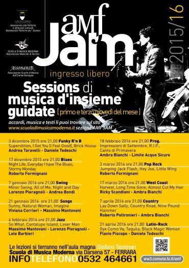 AMF Jam 2016 –  SESSION DI MUSICA D'INSIEME GUIDATE