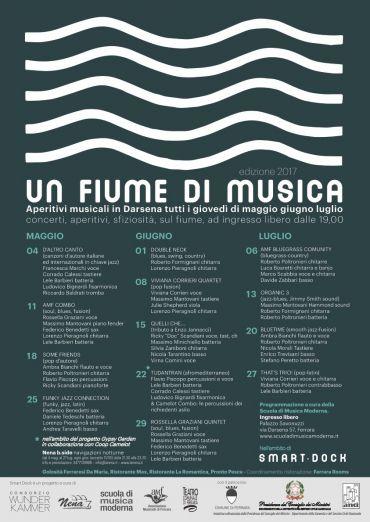 UN FIUME DI MUSICA. APERITIVI MUSICALI IN DARSENA