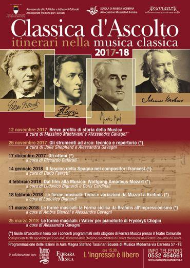 Classica d'Ascolto itinerari nella musica classica 2017-18