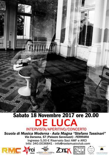De Luca Intervista/Aperitivo/Concerto