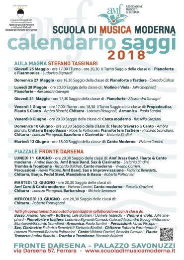 SAGGI SCUOLA DI MUSICA MODERNA 2018