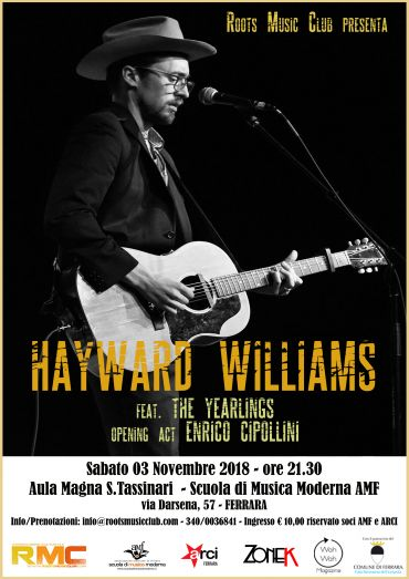 SABATO 3 NOVEMBRE 2018 – HAYWARD WILLIAMS (USA)