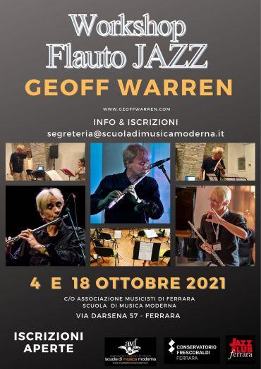 Workshop – FLAUTO JAZZ con Geoff Warren